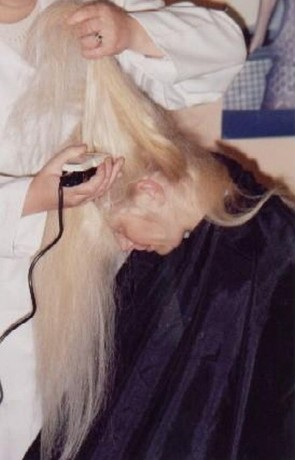 long hair to bald