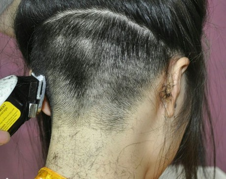 Ladies Clipper Nape Haircuts http://www.funhaircut.com/photos/buzzcut-and-headshave/nape-short-buzz-cut.html
