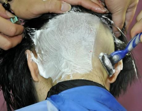 Long Hair Nape Shave