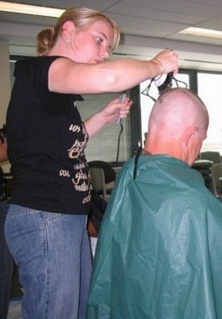 Totaly head shave
