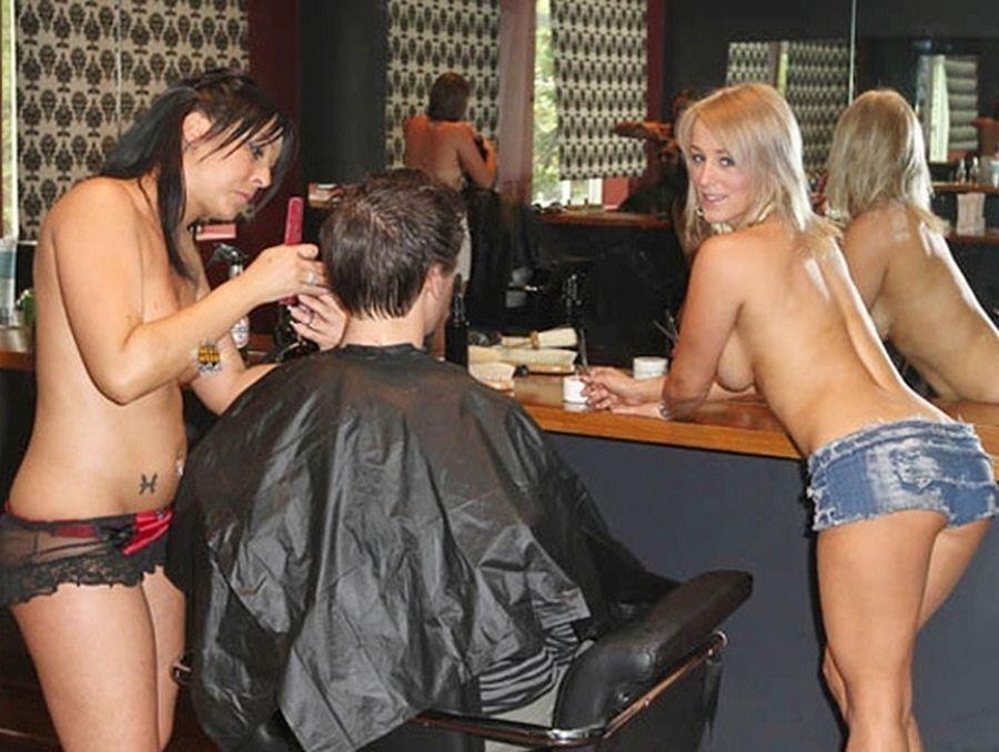 фото секс в парикмахерской