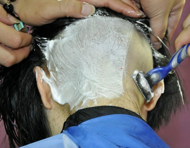 nape razor shave
