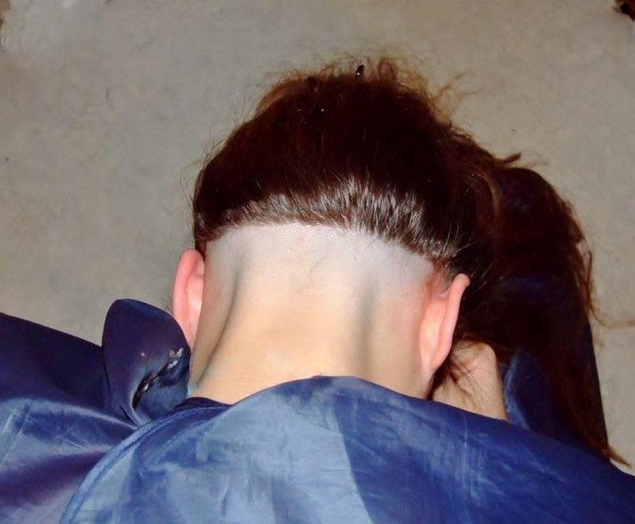 shaved nape