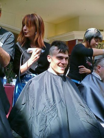 FUNHAIRCUTCOM PHOTOS Buzzcut and Headshave charity
