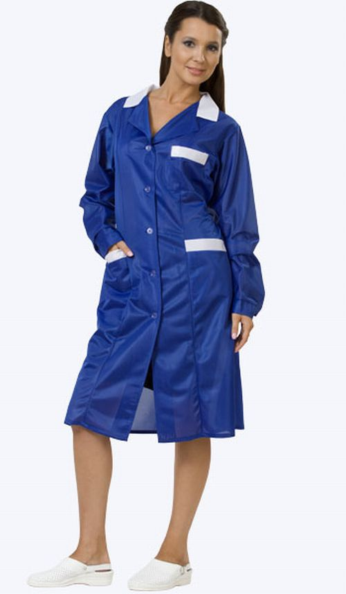 barberette in blue smock