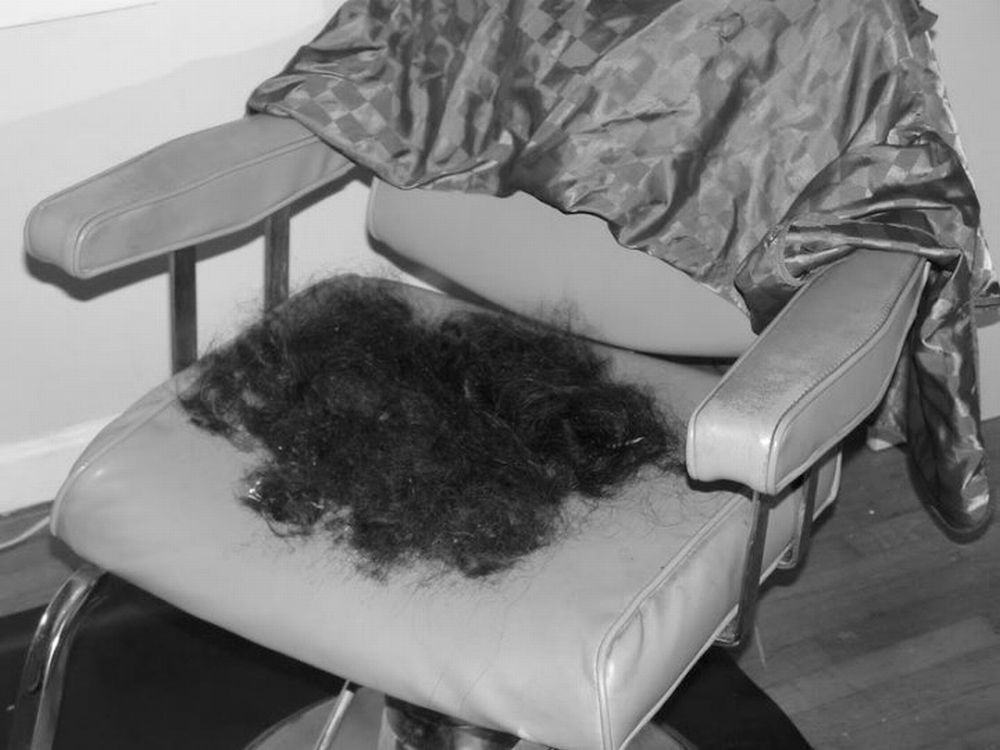 hair on chair